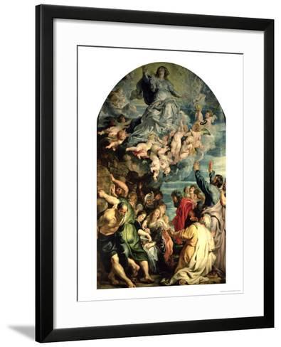 The Assumption of the Virgin Altarpiece, 1611/14-Peter Paul Rubens-Framed Art Print