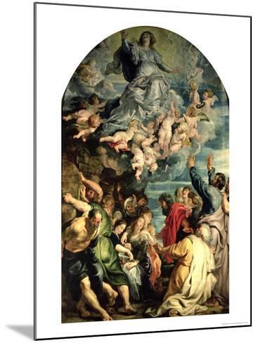 The Assumption of the Virgin Altarpiece, 1611/14-Peter Paul Rubens-Mounted Giclee Print