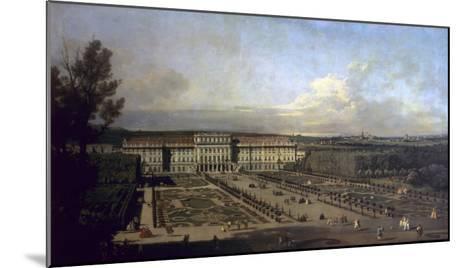 Schonbrunn Palace and Gardens, 1759/61-Bernardo Bellotto-Mounted Giclee Print