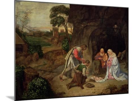 Adoration of the Shepherds, 1510-Giorgione-Mounted Giclee Print