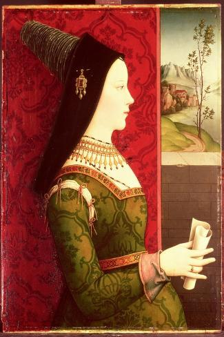 Mary of Burgundy (1457-82) Daughter of Charles the Bold, Duke of Burgundy (1433-77)-Ernst Maler-Stretched Canvas Print