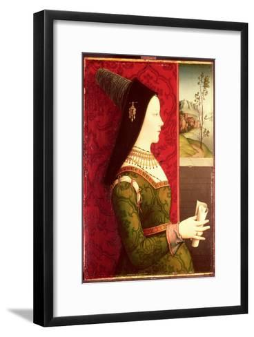 Mary of Burgundy (1457-82) Daughter of Charles the Bold, Duke of Burgundy (1433-77)-Ernst Maler-Framed Art Print