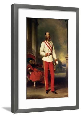 Franz Joseph I, Emperor of Austria (1830-1916) Wearing the Uniform of an Austrian Field Marshal-Franz Xaver Winterhalter-Framed Art Print