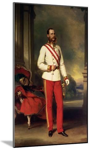 Franz Joseph I, Emperor of Austria (1830-1916) Wearing the Uniform of an Austrian Field Marshal-Franz Xaver Winterhalter-Mounted Giclee Print