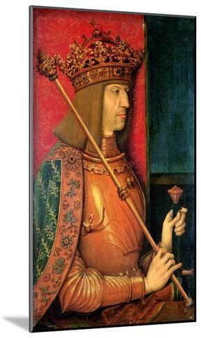 Emperor Maximilian I (1459-1519)-Bernhard Strigel-Mounted Giclee Print