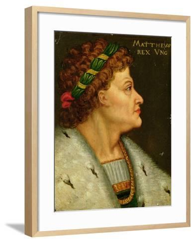 Matthias I, Hunyadi (1440-90) King of Hungary Also Known as Matthias Corvinus, Son of Janos Hunyadi--Framed Art Print