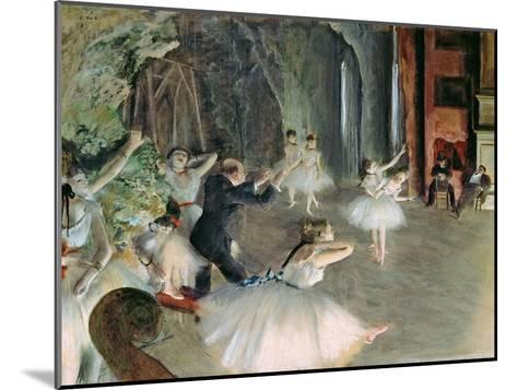 The Rehearsal of the Ballet on Stage, circa 1878-79-Edgar Degas-Mounted Giclee Print