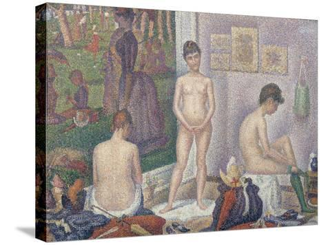 The Models, 1888-Georges Seurat-Stretched Canvas Print