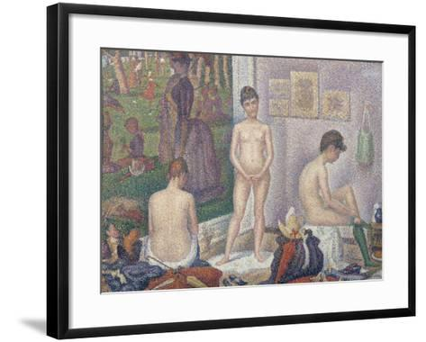 The Models, 1888-Georges Seurat-Framed Art Print