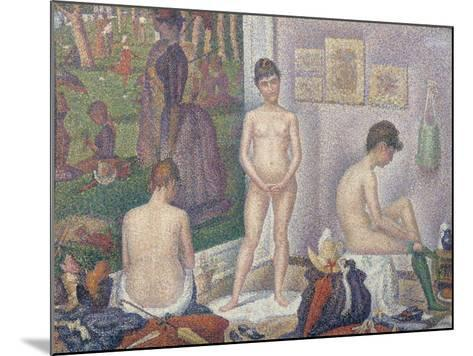 The Models, 1888-Georges Seurat-Mounted Giclee Print