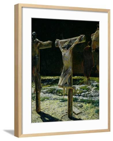 The Crucifixion, or Golgotha, 1893-Nikolai Nikolaevich^ Ge-Framed Art Print
