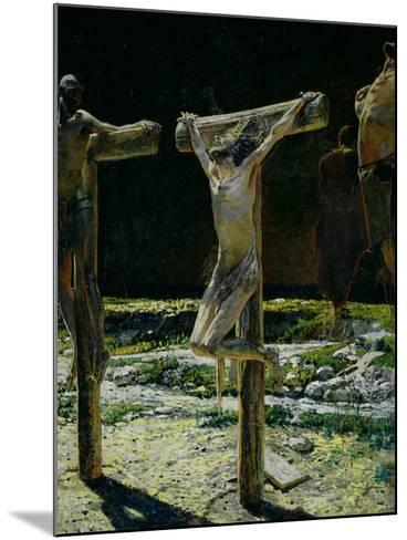 The Crucifixion, or Golgotha, 1893-Nikolai Nikolaevich^ Ge-Mounted Giclee Print