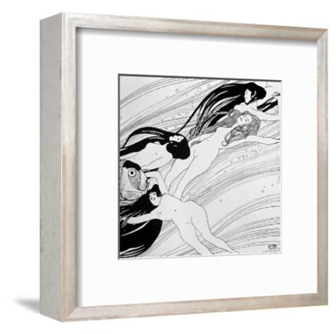 "The Blood of Fish, Published in ""Ver Sacrum"" Magazine, 1898-Gustav Klimt-Framed Art Print"