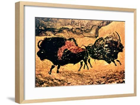 Rock Painting of Bison, circa 17000 BC--Framed Art Print