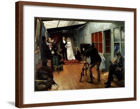 Wedding at the Photographer's, 1878-9-Pascal Adolphe Jean Dagnan-Bouveret-Framed Art Print