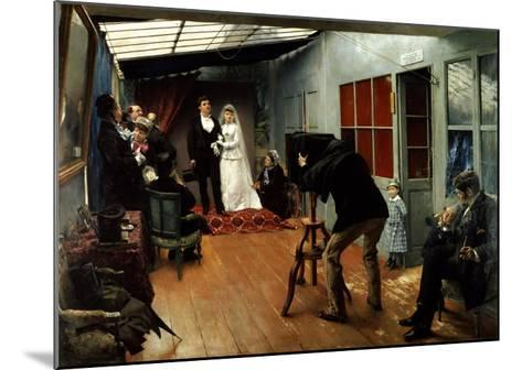 Wedding at the Photographer's, 1878-9-Pascal Adolphe Jean Dagnan-Bouveret-Mounted Giclee Print
