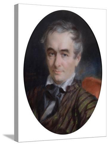 Portrait of Prosper Merimee (1803-70) 1853-Simon Jaques Rochard-Stretched Canvas Print