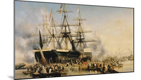 King Louis-Philippe (1830-48) Disembarking at Portsmouth, 8th October 1844, 1846-Louis Eugene Gabriel Isabey-Mounted Giclee Print