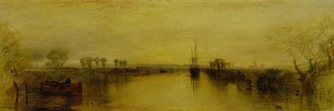 Chichester Canal, circa 1829-J^ M^ W^ Turner-Stretched Canvas Print