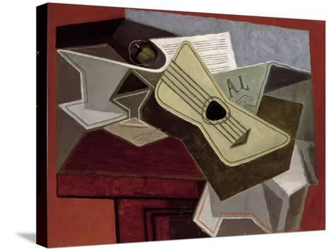 Guitar and Newspaper, 1925-Juan Gris-Stretched Canvas Print