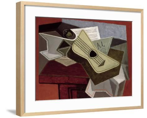 Guitar and Newspaper, 1925-Juan Gris-Framed Art Print