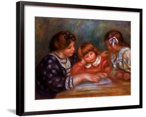 The Lesson, 1906-Pierre-Auguste Renoir-Framed Art Print