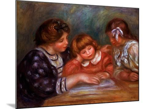 The Lesson, 1906-Pierre-Auguste Renoir-Mounted Giclee Print