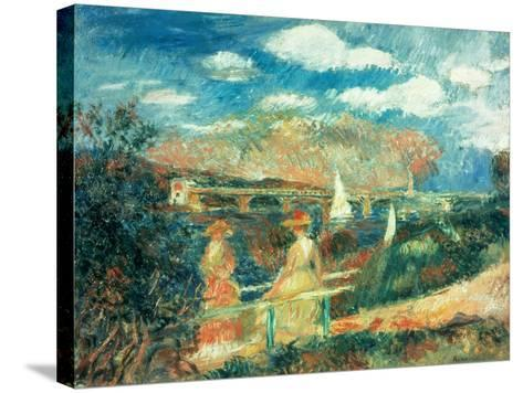 The Banks of the Seine at Argenteuil, 1880-Pierre-Auguste Renoir-Stretched Canvas Print