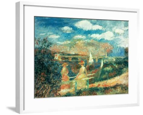 The Banks of the Seine at Argenteuil, 1880-Pierre-Auguste Renoir-Framed Art Print