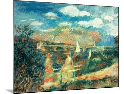 The Banks of the Seine at Argenteuil, 1880-Pierre-Auguste Renoir-Mounted Giclee Print