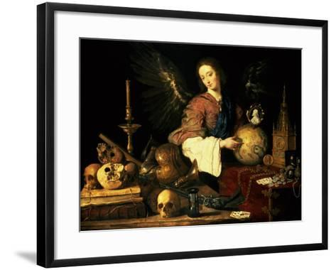 Vanitas, circa 1634-Antonio Pereda y Salgado-Framed Art Print
