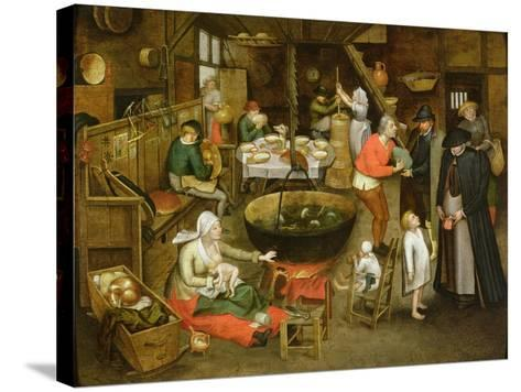 The Visit to the Farm-Pieter Brueghel the Younger-Stretched Canvas Print