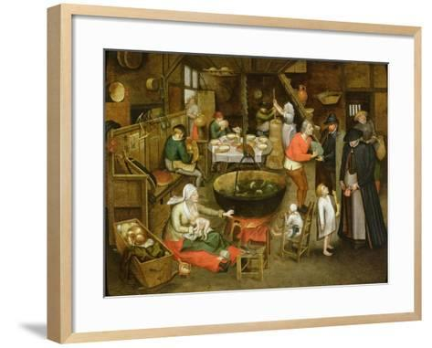 The Visit to the Farm-Pieter Brueghel the Younger-Framed Art Print
