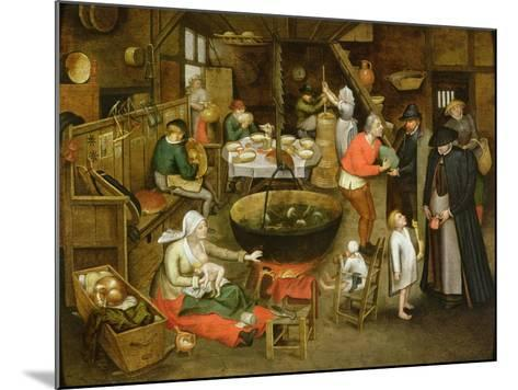 The Visit to the Farm-Pieter Brueghel the Younger-Mounted Giclee Print