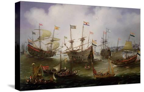 The Return to Amsterdam of the Fleet of the Dutch East India Company in 1599-Andries van Eertvelt-Stretched Canvas Print