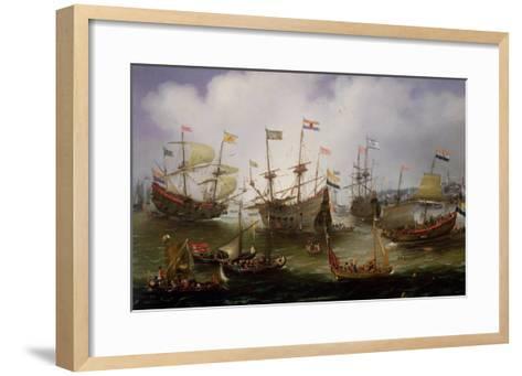 The Return to Amsterdam of the Fleet of the Dutch East India Company in 1599-Andries van Eertvelt-Framed Art Print