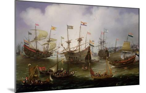 The Return to Amsterdam of the Fleet of the Dutch East India Company in 1599-Andries van Eertvelt-Mounted Giclee Print