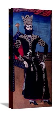 Portrait of Fath-Ali, Shah of Iran (Reigned 1797-1834)--Stretched Canvas Print