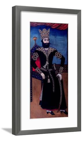Portrait of Fath-Ali, Shah of Iran (Reigned 1797-1834)--Framed Art Print