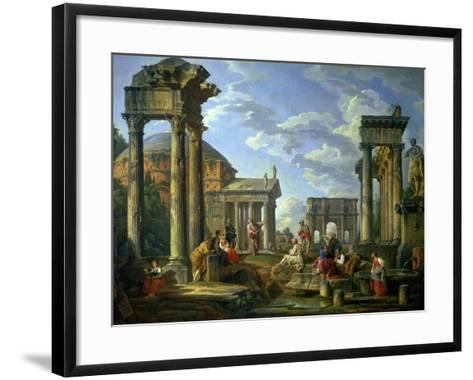 Roman Ruins with a Prophet, 1751-Giovanni Paolo Pannini-Framed Art Print