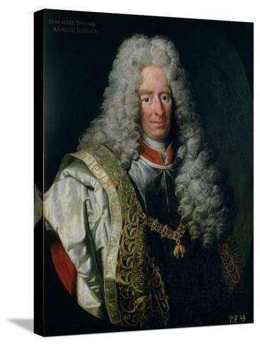 Count Alois Thomas Raimund Von Harrach, Viceroy of Naples (1669-1742)-Johann Gottfried Auerbach-Stretched Canvas Print