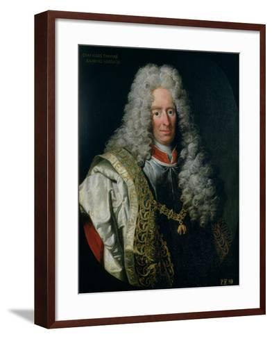 Count Alois Thomas Raimund Von Harrach, Viceroy of Naples (1669-1742)-Johann Gottfried Auerbach-Framed Art Print