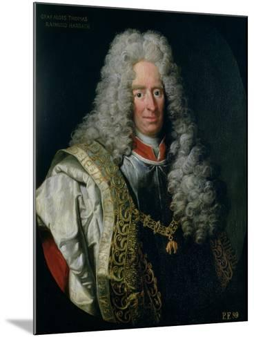 Count Alois Thomas Raimund Von Harrach, Viceroy of Naples (1669-1742)-Johann Gottfried Auerbach-Mounted Giclee Print