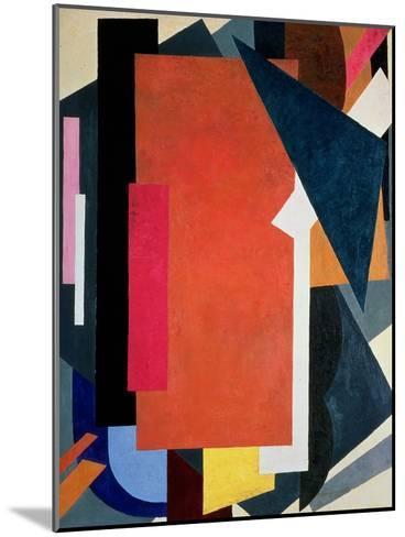 Painterly Architectonics, 1916-17-Liubov Sergeevna Popova-Mounted Giclee Print