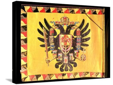 Flag of the Imperial Habsburg Dynasty, circa 1700--Stretched Canvas Print