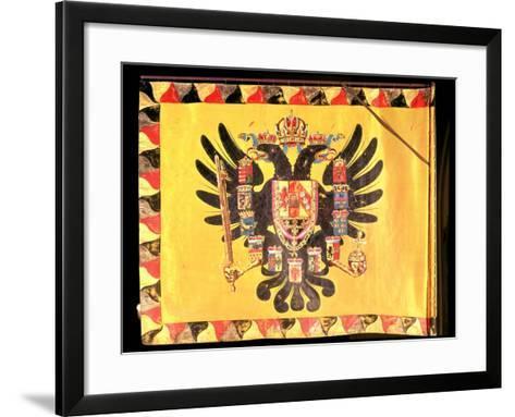 Flag of the Imperial Habsburg Dynasty, circa 1700--Framed Art Print