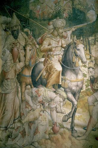 Campaign of Emperor Charles V Against the Turks at Tunis in 1535-Jan Cornelisz Vermeyen-Stretched Canvas Print