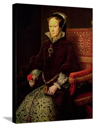 Queen Mary I (1516-58) 1554-Antonis Mor-Stretched Canvas Print
