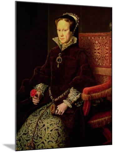 Queen Mary I (1516-58) 1554-Antonis Mor-Mounted Giclee Print