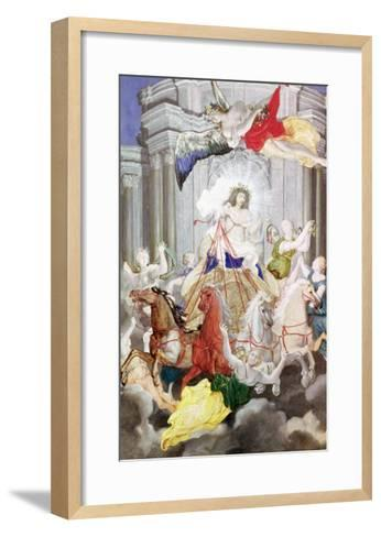 Triumph of King Louis XIV (1638-1715) of France Driving the Chariot of the Sun Preceded by Aurora-Joseph Werner-Framed Art Print